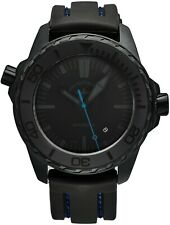 Zeno Men's Divers Black Dial Black/Blue Rubber Strap Automatic Watch 6603-BK-I14