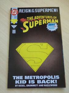 Adventures of Superman #501 June 1993 DC Comic Cut-out Metropolis Kid is Back!