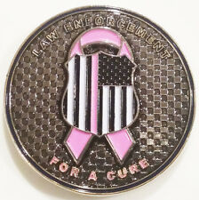 Law Enforcement For A Cure Breast Cancer Police Flag Challenge Coin (non NYPD)