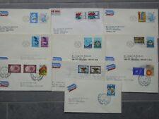 UNO New York kleines Lot postalisch gelaufener FDC, Altersspuren