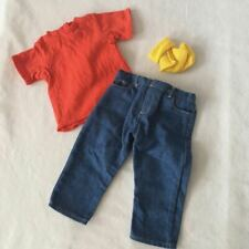 American Girl of Today BLUE JEAN BASICS OUTFIT 1995 T-Shirt Jeans Socks Hanger