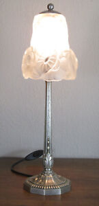 WONDERFUL FRENCH ART DECO TABLE LAMP 1925 - SIGNED: DEGUE AND DARLOY