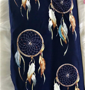 Dream Catchers on Midnight Navy Super SOFT Leggings OS TC Plus rts