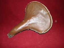 """Antique Bicycle Seat Leather Springer Style 5/8"""" Seat Post 11-1/2"""" Saddle"""