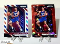 2018-19 Prizm JEROME ROBINSON Rookie Ruby Wave & Red White and Blue Prizm Lot