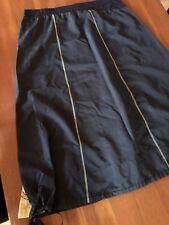 TAKING SHAPE Black Elasticised A-Line Drawstring Insert Panel Hemline Skirt 18+
