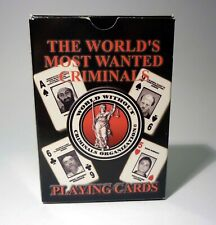 The World's most wanted criminals playing cards - complete deck - b01354