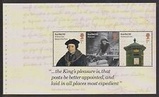 GB 2016 SG3795a y SG3796a dos paneles de folleto ex Royal Mail 500th aniversario PSB DY16