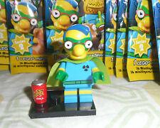 LEGO Simpsons Minifigure Milhouse FALLOUT BOY Ragazzo Ionico Series 2 Completo