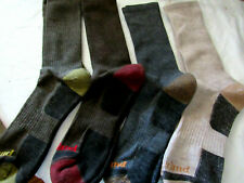 Timberland Men's Crew Socks 4 Pack Outdoor Leisure Assorted Fit Shoes Size 6-12