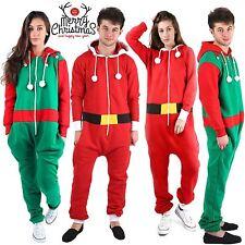 Unisex Mens Ladies Green ELF Red SANTA Christmas XMAS Onesie All In ONE Jumpsuit