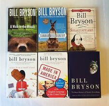 Lot 4 Bill Bryson (HC) Walk in Woods Sunburned Country Short History, One Summer
