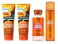 4 Piece Bath & Body Works Sweet Cinnamon Pumpkin Set - Lotion, Body Cream, Mist