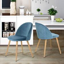 HOMYCASA 2pcs Kitchen Dining Chair Accent Chair Velvet Living Room Modern Chair