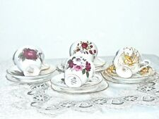 FABULOUS VINTAGE MIX  PORCELAIN TRIOS OF 4 SETS MADE IN ENGLAND