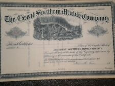 The Great Southern Marble Company  1800's Mint !!   Free Shipping !!