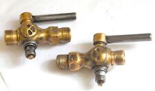 Two Vintage Brass Water Spigots  / Industrial Steam punk  *  Plumbing