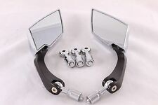 2PC 8/10mm Bolt Size Side Rear View Mirrors For Motorcycle Honda Yamaha Suzuki