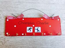 Personalised Bespoke Medal Display Sign Plaque Hanger ~ Any Sports ~ Male Female