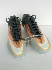 Nike Vapor Speed 2 Football/Lacrosse Lax Cleats Grey / Orange Size 12 New