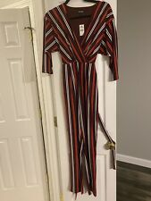 Nwt! Express Striped Long-Sleeve Jumpsuit XS Retail$ 79.99