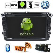 "8 ""2 DIN GPS Android nav Autoradio lettore DVD per VW Passat Golf Skoda+CAMERA"