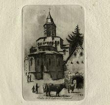 Charles JAFFEUX 1901 1941 LOT 2 EAUX FORTES Originales CLERMONT FERRAND Auvergne