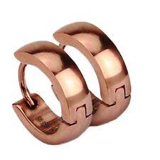 1 paio Accessorio Acciaio Pieghevole Orecchini ad anello placcato oro rosa &
