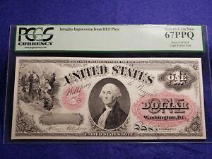 1874 $1 Intaglio Impression from BEP Plate PCGS 67 PPQ  - L@@K