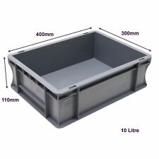 Very Strong Heavy Duty Type Stackable Plastic Euro Storage Boxes 16 Sizes 10 Litre