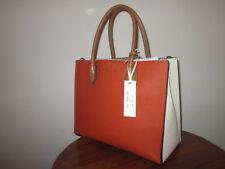 MICHAEL MICHAEL KORS MERCER LARGE CONVERTIBLE ORM/ECR LEATHER TOTE BAG