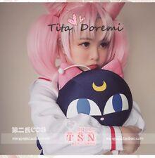 NEW Sailor Moon Chibiusa Chib lolita Cosplay Wig pink Costume Anime party hair
