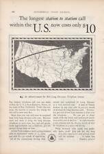 "1928 AT&T Bell Telephone Long Distance Ad/ ""Cross Country only $10"""