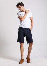 Mens FOXJEANS Casual Shorts Men's Walkshorts Dark Navy 34