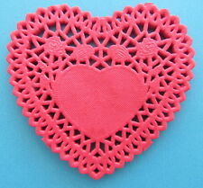 Paper Doilies Red Heart 10cm Pk 24 Great for Cardmaking