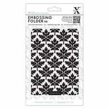 Xcut A6 Scrapbook Craft Embossing Folder - Baroque Leaves (105x148mm)