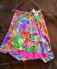 Ralph Lauren Women's Floral Lined Faux Wrap Skirt Size 6 THESPOT917