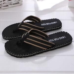 Men Flip Flops Toe Post Slip On Sandals Beach Walking Slippers Breathable Summer