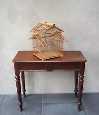Vintage Bamboo Wood Birdcage Handmade Craft Item