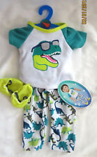 "My Life AG OG 18"" Girl or BOY Doll Clothes Pajamas PJs T-REX DINOSAUR NEW"