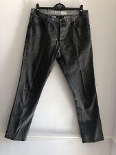 Industrie est 1999 F01A Hombre Gris Oscuro Lavado De Jeans Tamaño 34W