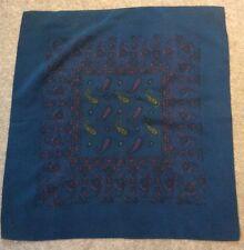 Vintage Blue Silk Handkerchief