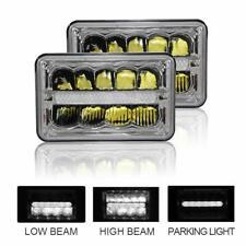 "Pair 4x6"" 45W Sealed Beam LED Headlights For Ford Chevrolet Kenworth Peterbilt"