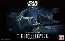 2017 BANDAI Star Wars Tie Interceptor 1/72 scale plastic model kit new in the bo