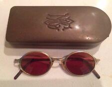 MATSUDA Vintage  Eyewear Sunglasses 46 0 22 in Antique Brass Case