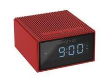 CREATIVE CHRONO Bluetooth Wireless Speaker and Alarm Clock - Red