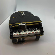 Department Dept 56 Glass Ornament Black Baby Grand Piano with Box