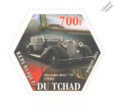 1938 Mercedes Benz Großer tipo 770/Coche Alemana Segunda Guerra Mundial (hexagonal) Sello