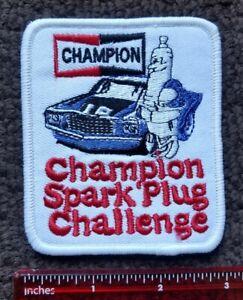 VINTAGE PATCH CHAMPION SPARK PLUG CHALLENGE RACING HOT ROD PATCH