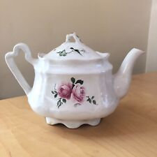 Arthur Wood & Son Teapot Staffordshire England 6426 Pink Cabbage Rose Floral